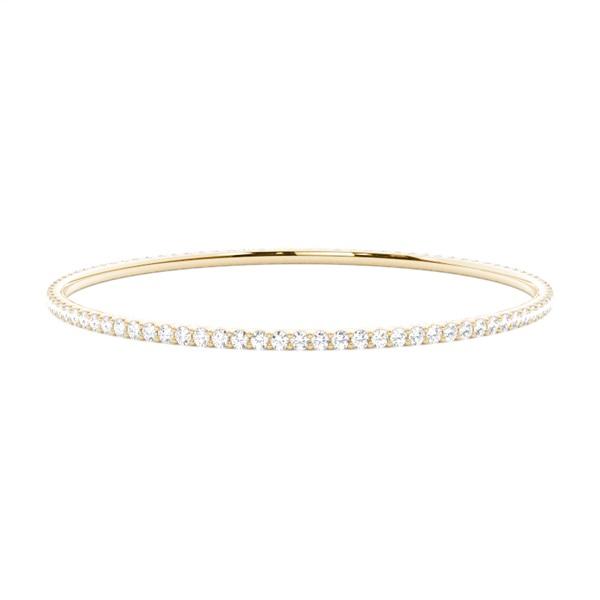 4-Kloinfattad Briljant Diamant Stelt Armband