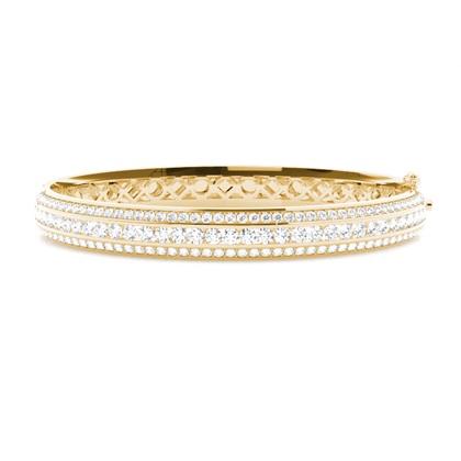 Rund Diamant Armbånd Med Kanalfatning