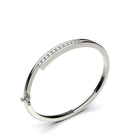 Kanalfattning Briljant Diamant Stelt Armband