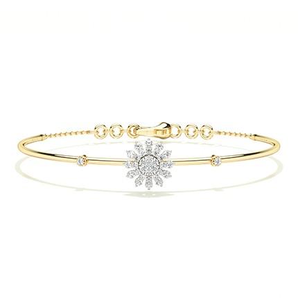 Bracelet de tous les jours avec diamants ronds sertis griffes