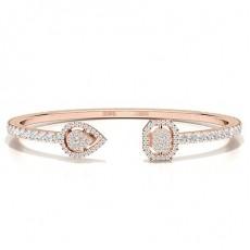 Prong Setting Round Diamond Evening Bracelet