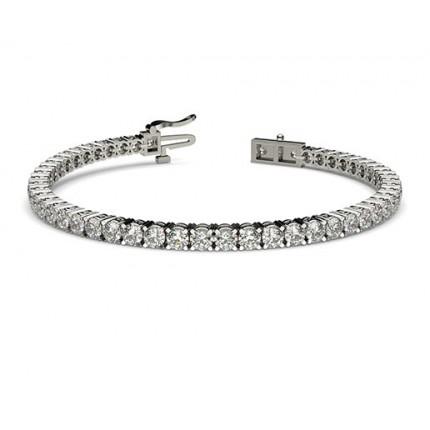 4-Zinken-Diamant-Tennisarmband