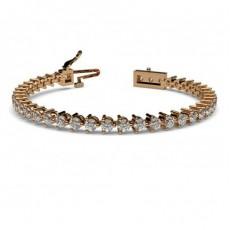 bracelets diamant or rose