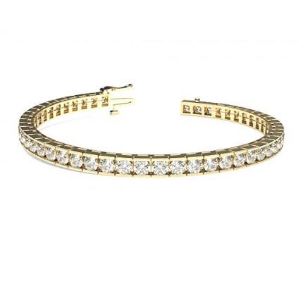 Channel Setting Tennis Bracelet