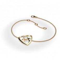0.25ct. Full Bezel Setting Round Diamond Delicate Bracelet