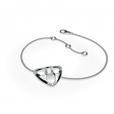0.35ct. Full Bezel & Prong Setting Round Diamond Delicate Bracelet