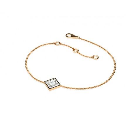 0.20ct Osynlig fattning Prinsess Diamant Nätt Armband