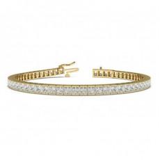 Gult Gull Diamant Armbånd