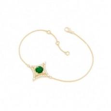 Yellow Gold Gemstone Diamond Bracelets
