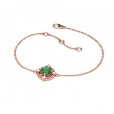 Rose Gold Gemstone Bracelets