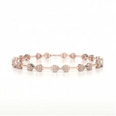 Bracciale Di Design Con Diamanti Rotondi Con Incastonatura A Pavé