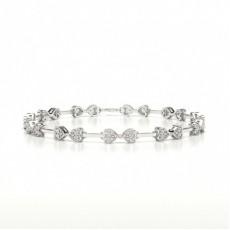 Or Blanc Bracelets Tendances