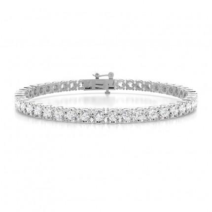 Bracelet tennis diamant rond serti griffes illusion