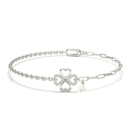 Bracelet de tous les jours avec diamants ronds et griffes plates