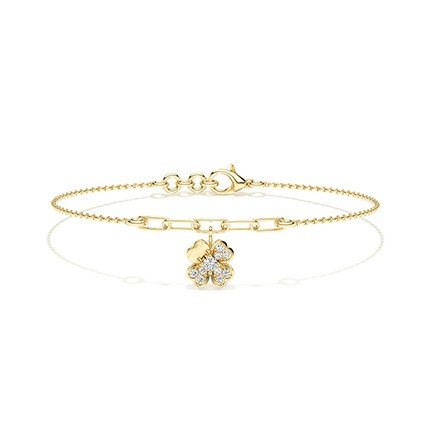 Bracelet de tous les jours diamant rond serti griffes