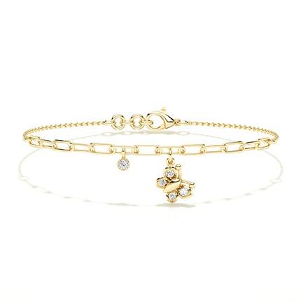 Armband mit runden Diamanten in Krappenfassung