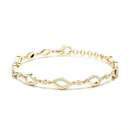Armband mit runden Diamanten in Tellerkragenfassung