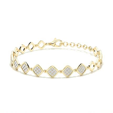 Bracelet de tous les jours avec diamants ronds sertis micro griffes