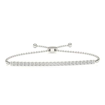 Illusion Plate Prong Setting Diamond Everyday Bracelets