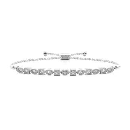 Bracelet de tous les jours diamant serti micro griffes