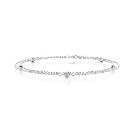 Bezel Inställning Diamant Varje Dag Armband