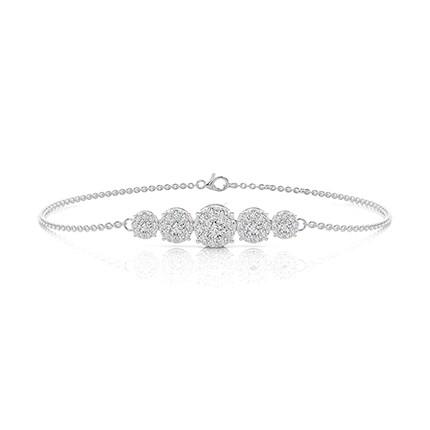 Illusion Plate Prong Setting Diamond Everyday Bracelet