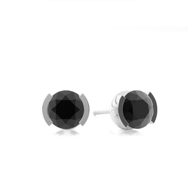 Vitguld Briljant Svart Diamantörhängen