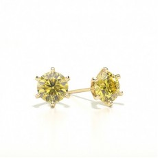Yellow Gold Diamond Earrings