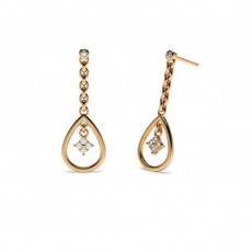 Rotgold Diamant Ohrhänger Ohrringe