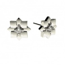 0.15ct. 4 Prong Setting Round Diamond Delicate Earrings