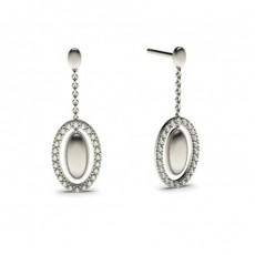 Runde Petite Diamantohrhänger in einer Krappenfassung