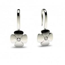 0.10ct. Full Bezel Setting Round Diamond Delicate Earrings