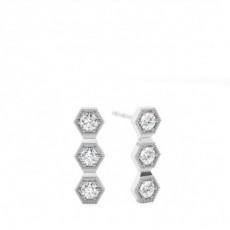 Round Journey Diamond Earrings