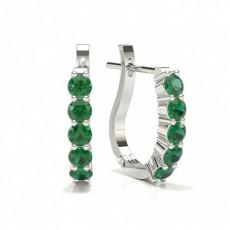 Platin Smaragd Ohrringe