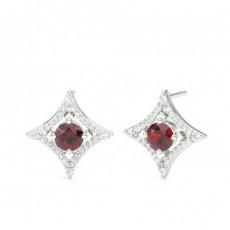 4 Prong Setting Gemstone Designer Stud Earrings