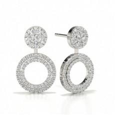 Runde Stud Cluster Designer Diamond Ohrringe