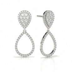 Runde Cluster Designer Diamant Ohrringe