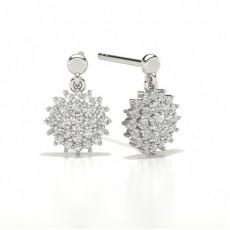 Runde Cluster Designer Diamond Ohrringe