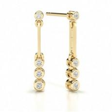 Yellow Gold Journey Earrings