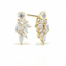 Yellow Gold Designer Earrings