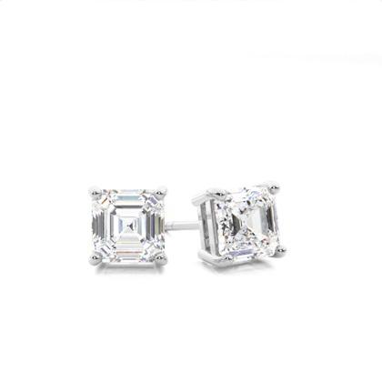 Asscher Diamond Earrings