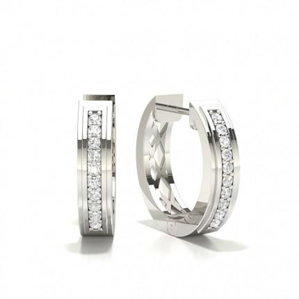 Pavéfattning Briljant Diamant Hoop Örhängen