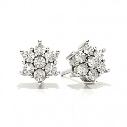 Kloinfattad Briljant Diamant Klusterörhängen