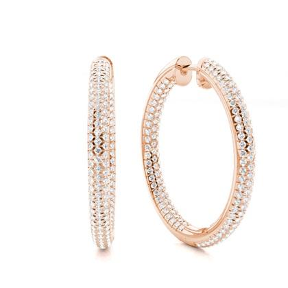 Oro rosa Pendientes de Diamantes