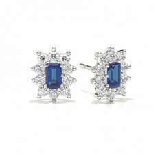 Emerald Sapphire Earrings