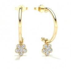 Créoles diamant rond serti lunette
