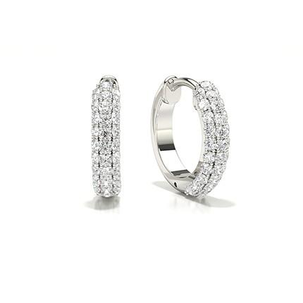 Micro -Rund Diamant Hoop Øreringeindfatning