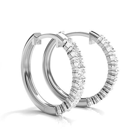 Illusion Plate Prong Einstellung runde Diamant-Creolen