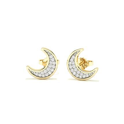 Pave Setting Round Diamond Stud Earring