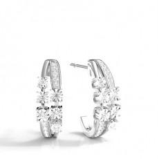White Gold Everyday Earrings